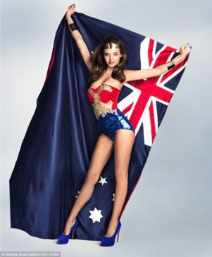 mirandakerr-modelsaustralianflag